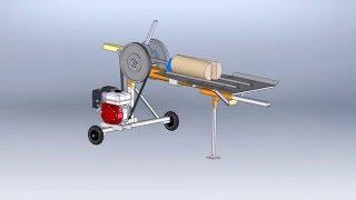 Дровокол реечный 3D-модель Log splitter 3D model