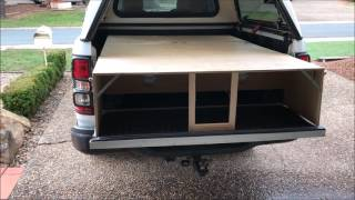 Truck Bed Drawers made from Pallets