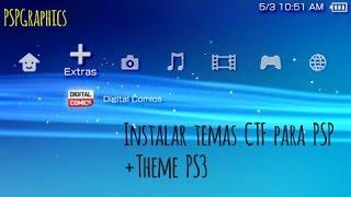 Como instalar temas CTF para PSP + Tema final de PS3