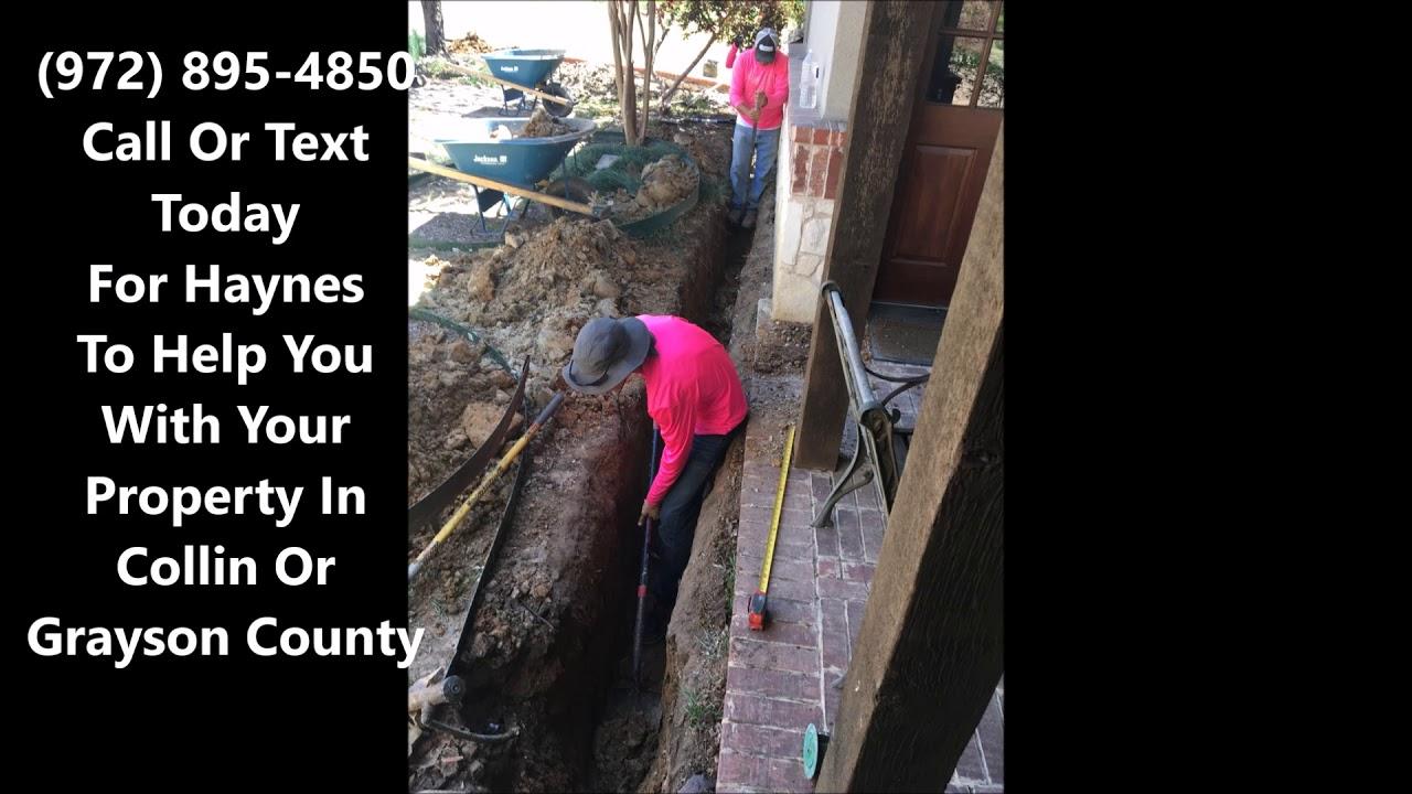 Download Yard Drainage Contractors McKinney, North Dallas, Collin County And Grayson County