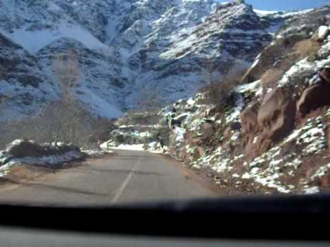 Driving through Atlas Mountains, Morocco January 2010