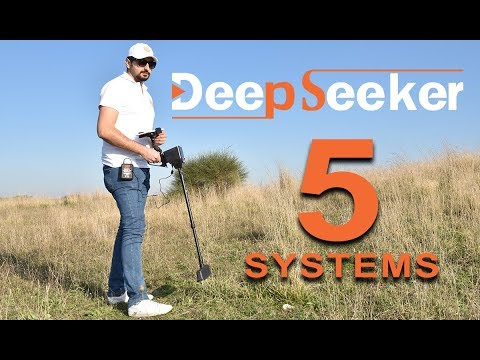 Gold metal detectors for lost treasures - Deep seeker device - 5 systems