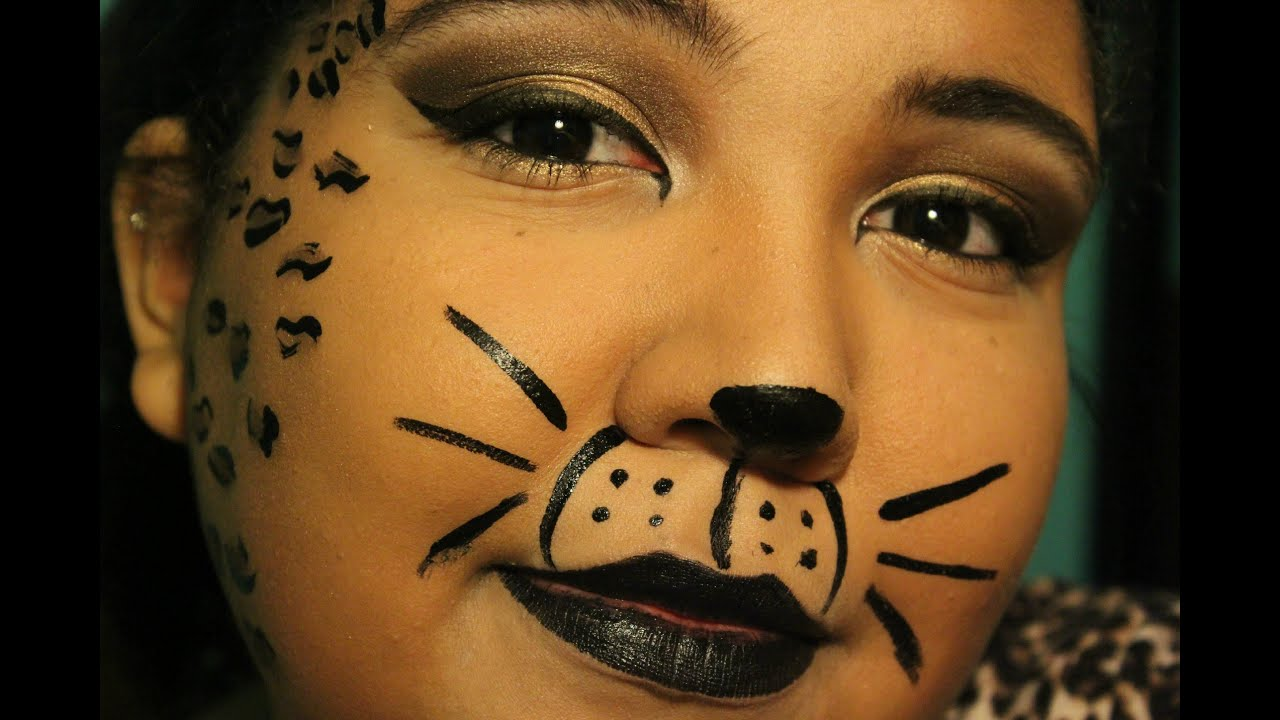 Unique and Easy Cheetah Halloween Makeup! - YouTube
