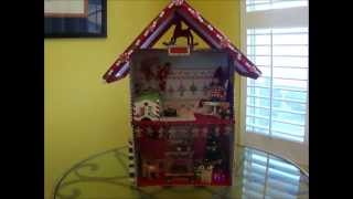 Christmas Shadow Box Doll House