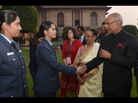 President Kovind meets a group of women achievers at Rashtrapati Bhavan