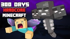 I Survived Hardcore Minecraft For 300 Days And This Is What Happened