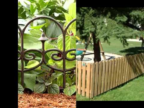 small garden fence ideas youtube