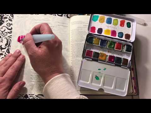 Bible Art Journaling How to use watercolor paint