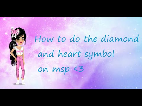 How To Do The Diamond And Heart Symbol On Msp Youtube