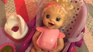 Unboxing baby alive learns to potty 2007 and feeding