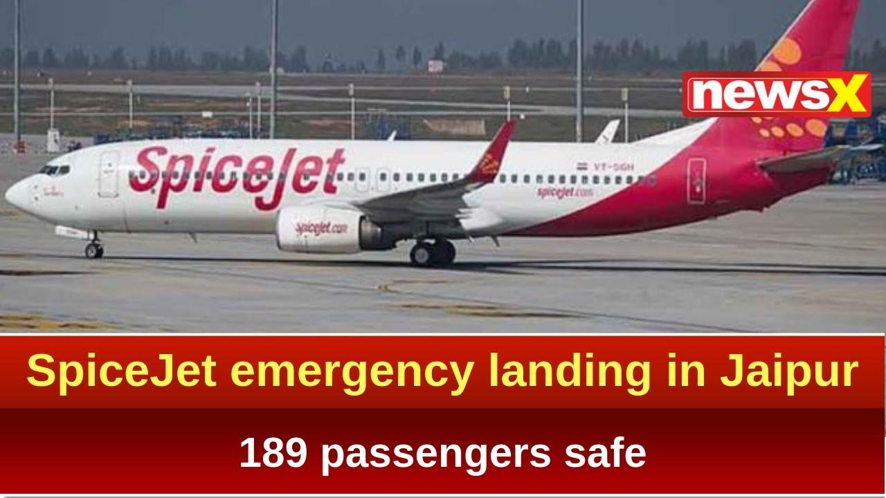 SpiceJet emergency landing in Jaipur after tyre burst, 189 passengers safe