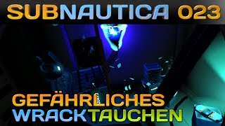 SUBNAUTICA [023] [Gefährliches Wracktauchen] Let's Play Gameplay Deutsch German thumbnail