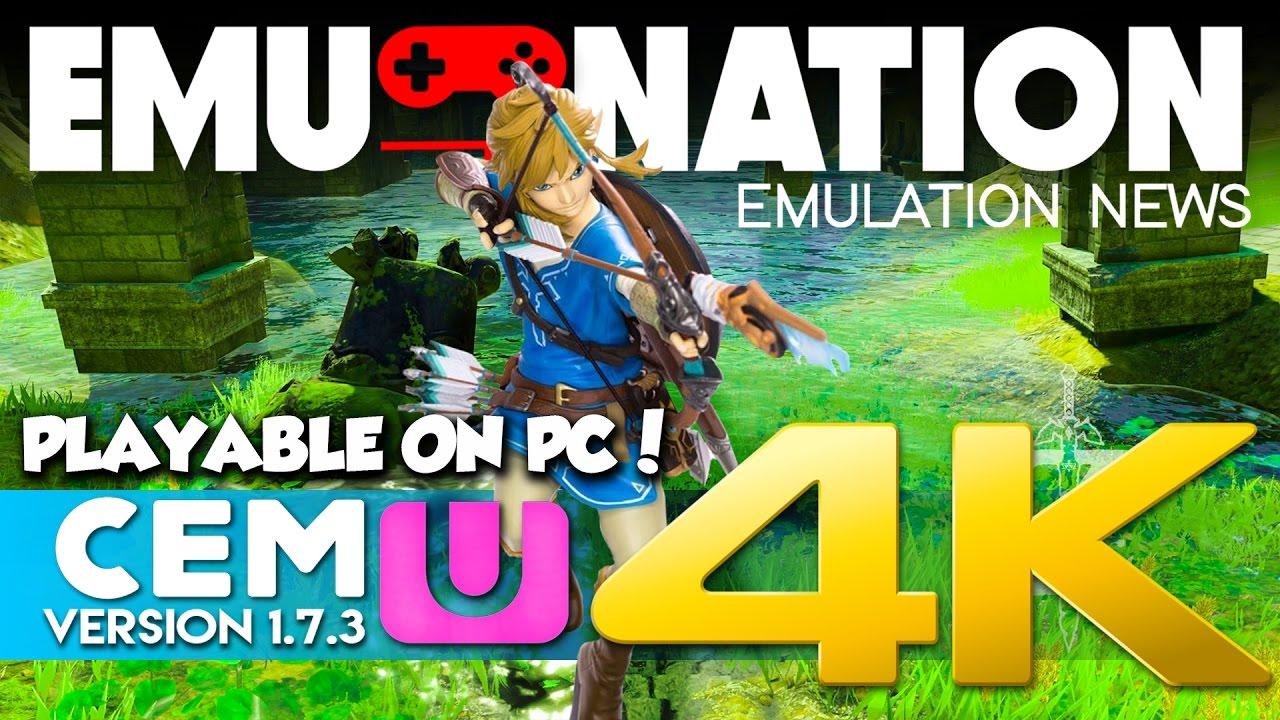 EMU-NATION: Zelda BOTW Emulator Test- Pushed to 4K (SPOILER FREE)