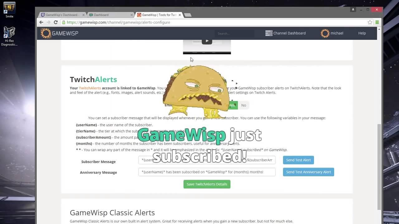 GameWisp's TwitchAlerts Integration
