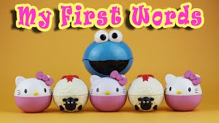 My First Words Cookie Monster Shaun the Sheep Hello Kitty Surprise TinkerBell 024