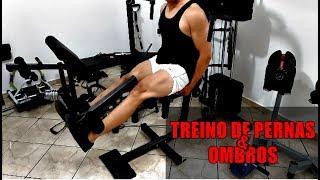 TREINO DE PERNAS E OMBRO - Estação de Musculação WCT FITNESS