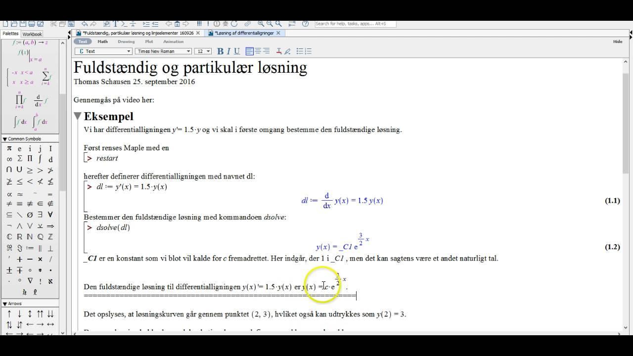 Løsning af differentialligninger