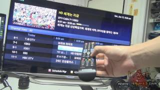 SAMSUNG SMART TV Schedule Recording function demonstration
