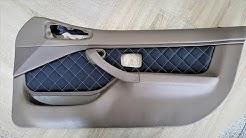 How to Make Custom Interior Car Panels. Car Door Panel upholstery BMW Z3. Car upholstery.
