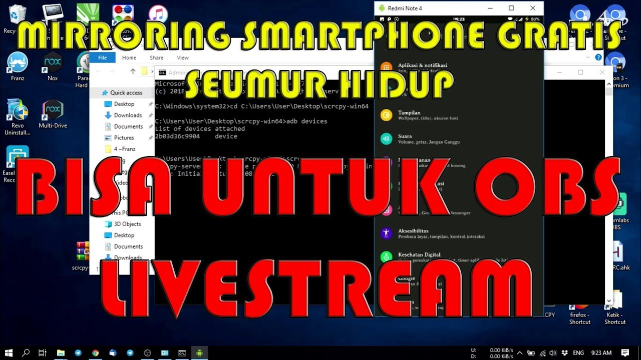 Cara Mirroring Android Ke PC / Laptop GRATIS SEUMUR HIDUP