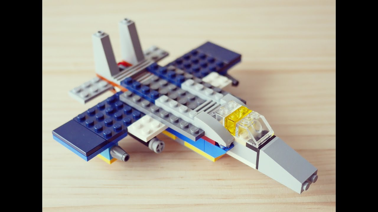 Building a simple LEGO airplane Fighter using Classic 10696    YouTube