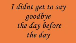 The Day before the Day - Dido - Lyrics