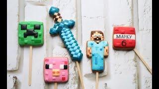 Пряники Майнкрафт для торта