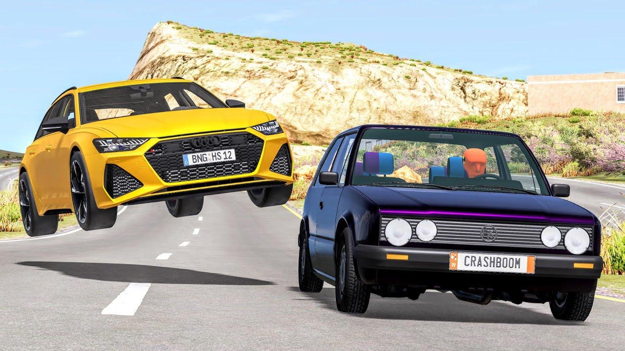Download Realistic Car Cliff Drops #31 - BeamNG Drive Crashes | CrashBoomPunk