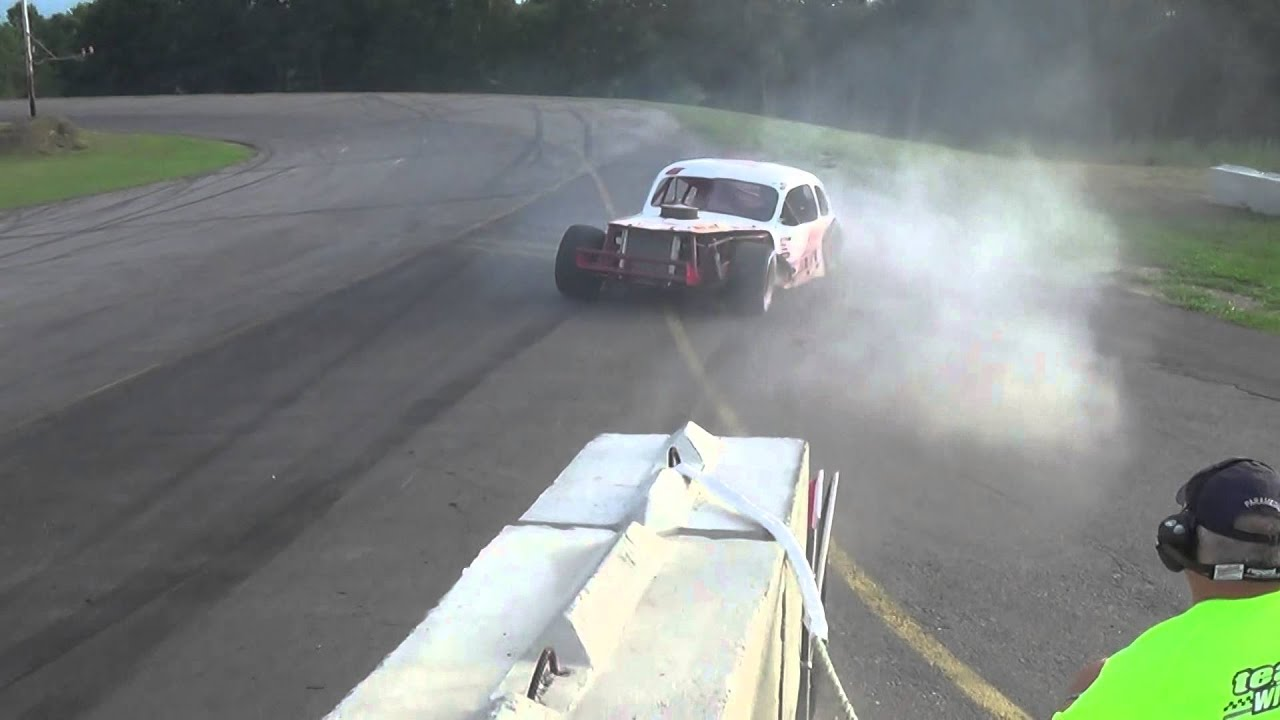 Wiscasset Speedway Wicked Good Vintage Heat 3 Part 1 8.22.15 - YouTube