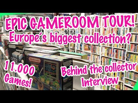 Epic Game Room Tour! Europe's Biggest game room? - Behind The Collector JNoxx
