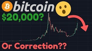 MY BITCOIN $13,400 TARGET MET!!! HUGE Correction After Blow Off Top?? | Altcoin Boom!? | $7,000?