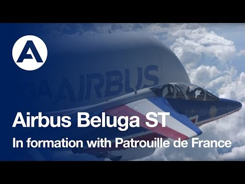 """Formation Flight: Beluga And The """"Patrouille De France"""""""
