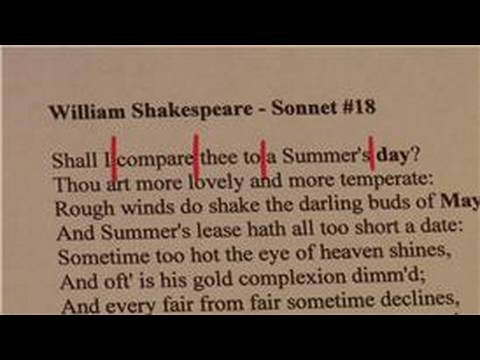 Improving Writing Skills : How to Write a Sonnet