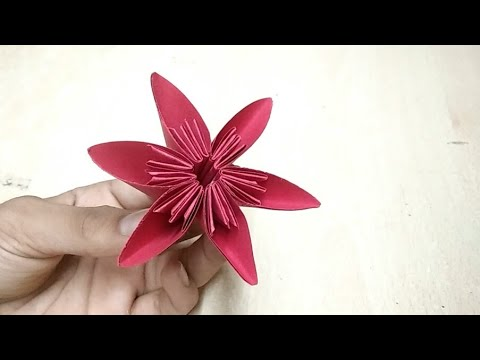 DIY Beautiful Paper Flower | Waste Material Craft Idea | Origami Crafts