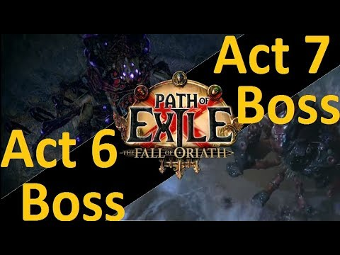 Path of Exile Act 6 and 7 Final Boss Fights: Hardcore Brine King and Arakaali