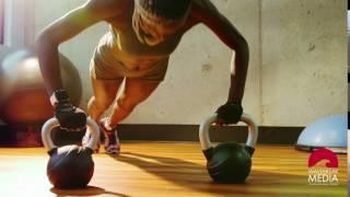 Woman making push-ups