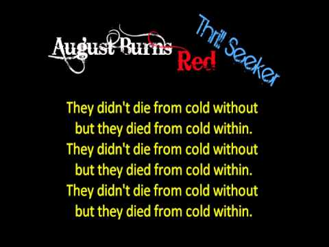 August Burns Red - Your Little Suburbia is in Ruins With Lyrics