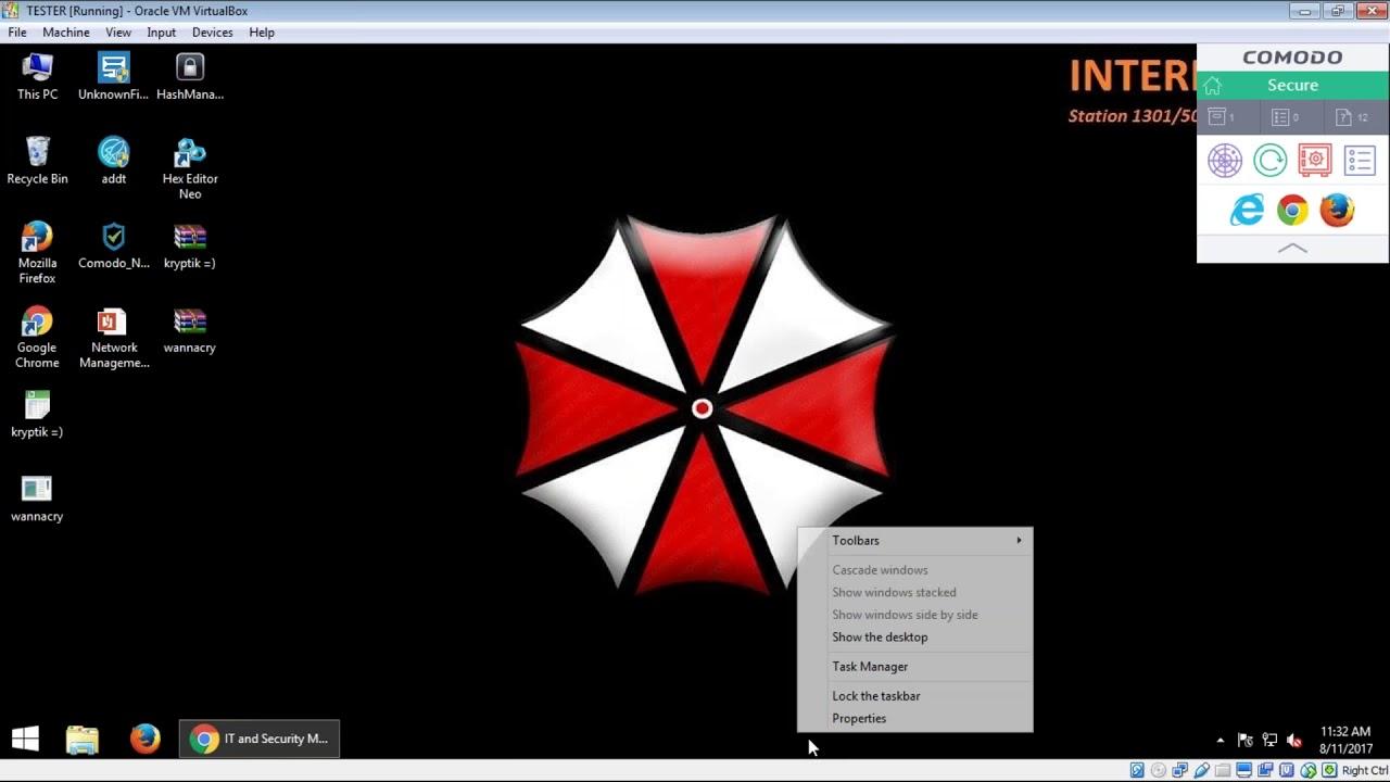 Comodo Client Security - Live Malware Test