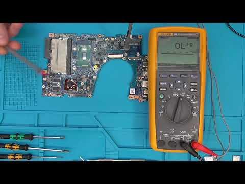Asus UX303. Устранение последствий упавшего винта на плату.
