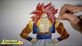 How to draw Gogeta SSJ4 [Dragonball GT]