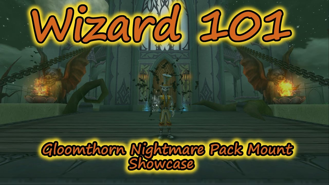 Wizard101 The Gloomthorn Nightmare Pack Mount Showcases - Bat Swarm