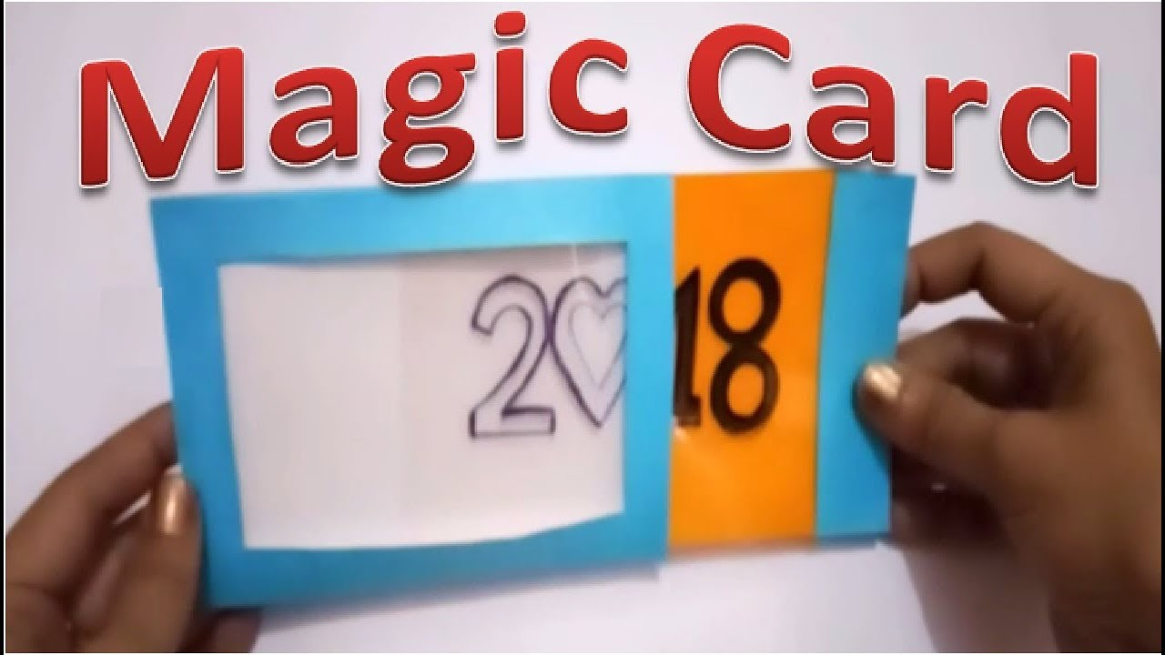 magic card how to make happy new year magic card 2018 by tukkutv