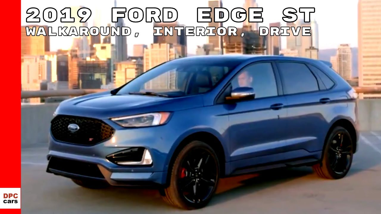 2019 ford edge st walkaround interior drive youtube. Black Bedroom Furniture Sets. Home Design Ideas