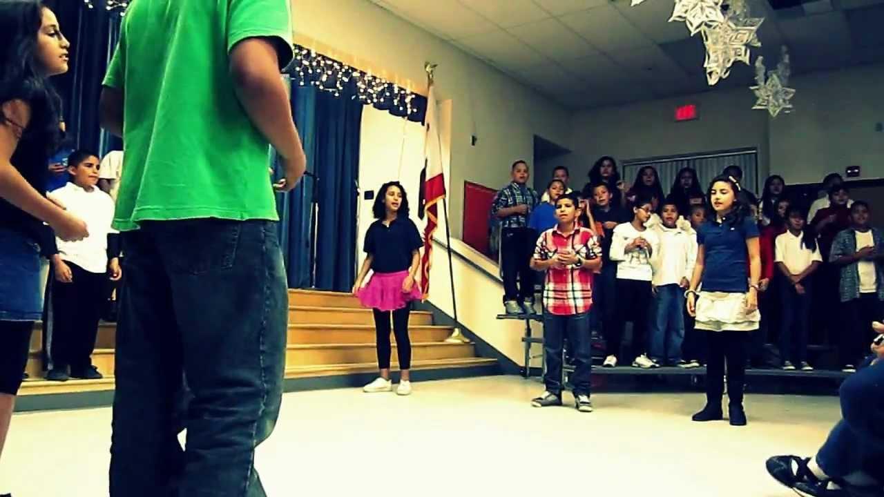 rockin around the Christmas tree dance - YouTube