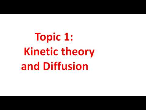Edexcel IGCSE Chemistry Chapter 1: Kinetic theory and diffusion