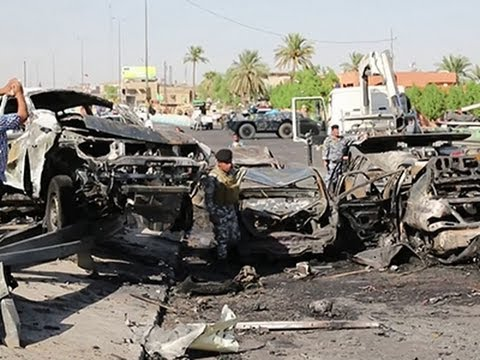 Raw: Twin Car Bomb Attacks in Iraq