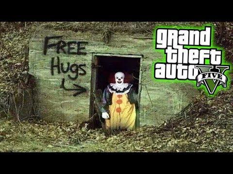 ГТА 5 МОДЫ ПЕННИВАЙЗ ОНО УБИВАЕТ ДЕТЕЙ В GTA 5! - КЛОУН УБИЙЦА! - GTA 5 МОДЫ GTA V