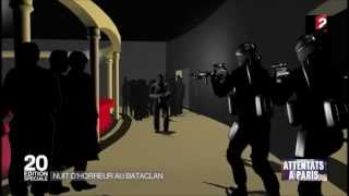 Reconstitution en 3D des évènements du Bataclan par France 2