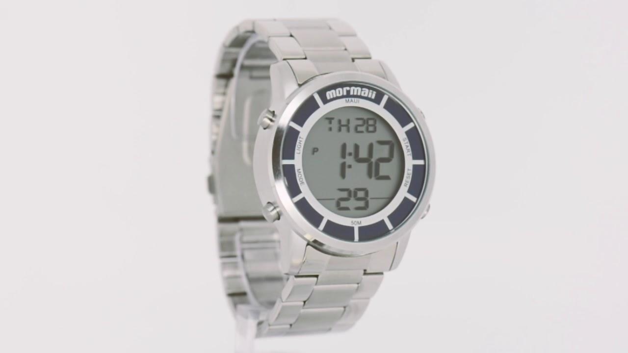 4b0cd4d49786e Relógio Mormaii Feminino Mauí MOBJ3463DA 3K - Eclock - YouTube