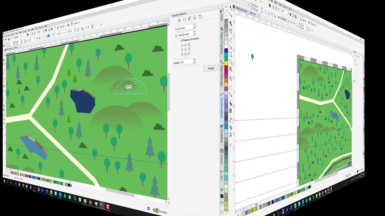 saját térkép Saját térkép készítése CorelDRAW Graphics Suite 2018 programban  saját térkép
